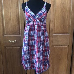 Plaid print women's size 10 summer dress